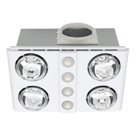 Magnus Quattro Bathroom Heater with Exhaust and Light image