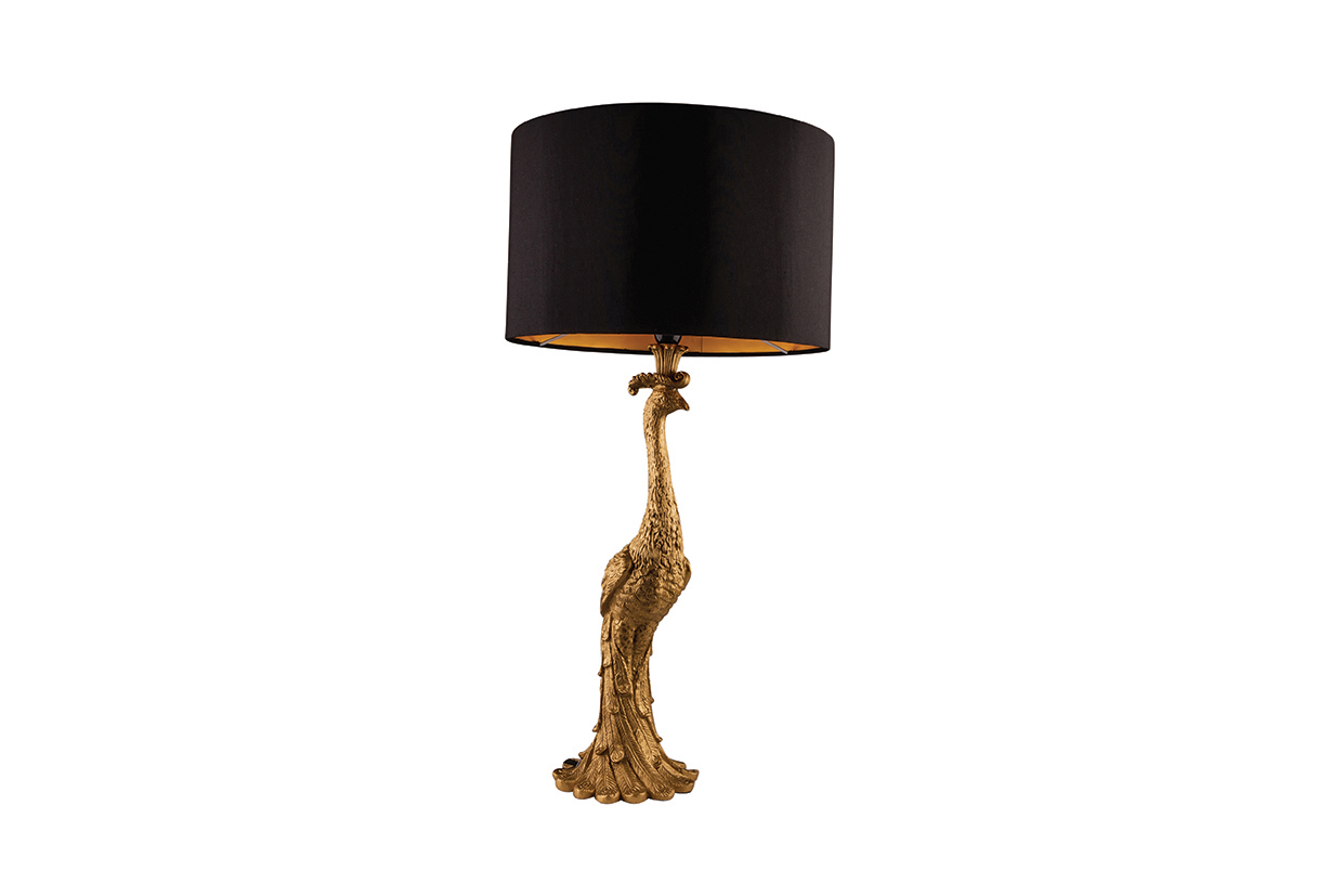 Penelope Gold Peacock Table Lamp